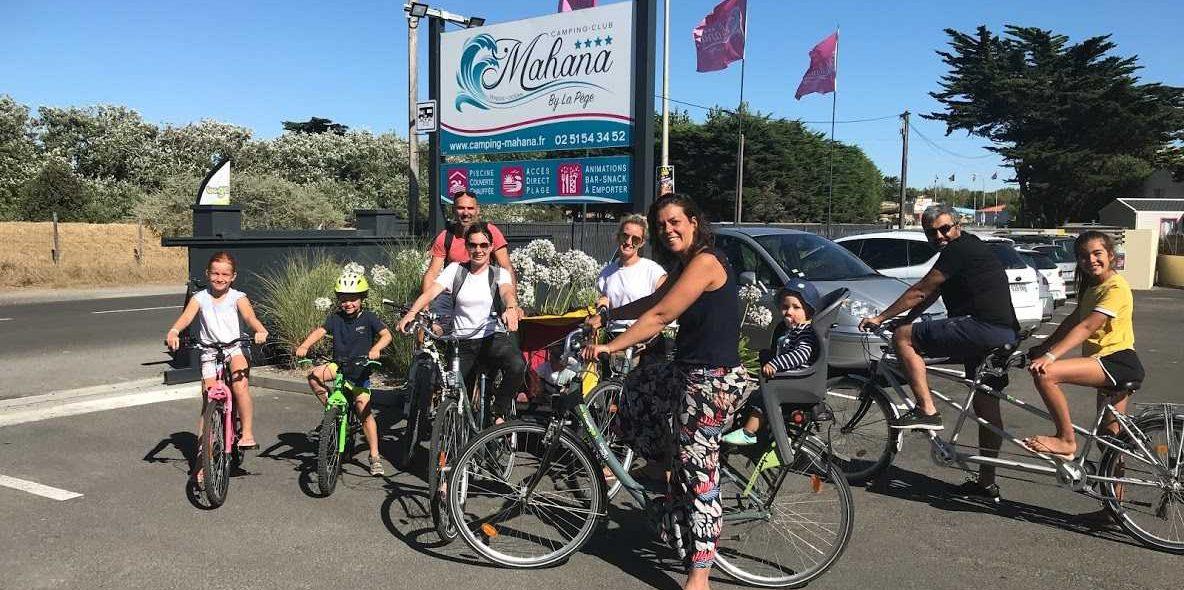 Camping Club Mahana : accueil vélo d'un groupe au camping